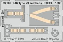 I-16 Type 29 seatbelts STEEL 1/32
