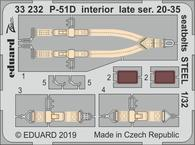 P-51D interior late ser. 20-35 seatbelts STEEL 1/32