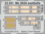 Me 262A стальные ремни 1/32