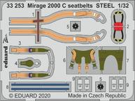 Mirage 2000 C seatbelts STEEL 1/32