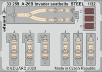 A-26B Invader seatbelts STEEL 1/32