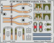 Mirage 2000D/N seatbelts STEEL 1/32