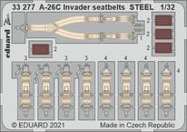 A-26C Invader seatbelts STEEL 1/32