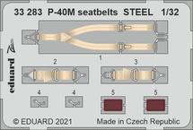 P-40M seatbelts STEEL 1/32