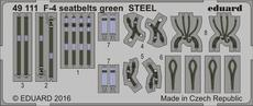 F-4 seatbelts green STEEL 1/48
