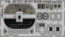 B-24D コクピット内装 接着剤塗布済 1/48