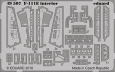 F-111E 内装 接着剤塗布済 1/48
