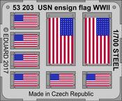 USN národní vlajka 2.sv.v. OCEL 1/700