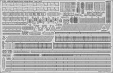 DKM Graf Zeppelin zábradlí a záchranné sítě část 4 1/350