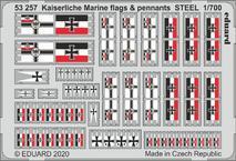 Kaiserlische Marine флаги и знамена, сталь 1/700
