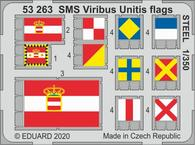 SMS Viribus Unitis flags STEEL 1/350