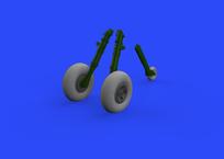 スピットファイア Mk.IX 車輪  4スポークw/パターン無しタイヤ 1/32