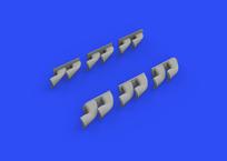 P-40 výfuky fishtail 1/32