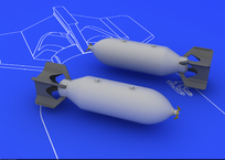 US 500lb bombs (2 pcs) 1/48