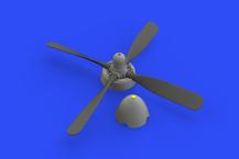 P-51D vrtule Hamilton Standard bez manžet 1/48