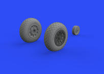 P-51D wheels oval tread 1/48