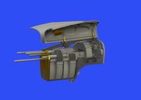 P-38F/G носовой пулемётный отсек 1/48