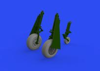 P-51D wheels block tread 2 1/48