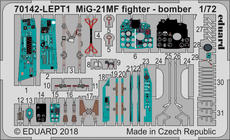 MiG-21MF fighter-bomber PE-set 1/72