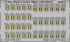 Remove Before Flight - желтый/черный 1/72