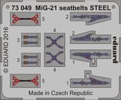 MiG-21 seatbelts STEEL 1/72
