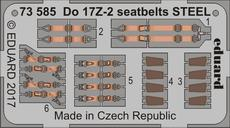 Do 17Z-2 seatbelts STEEL 1/72