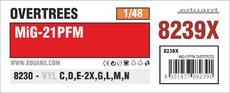 MiG-21PFM OVERTREES 1/48 1/48