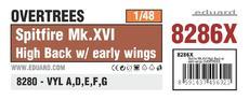 スピットファイア Mk.XVI ハイバックw/初期型 翼 オーバーツリーズ 1/48