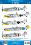Bf 109G-6 obtisky 1/48
