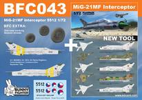 MiG-21MF interceptor 5512 1/72