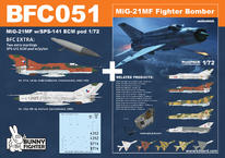 МиГ-21МФ с СПС-141 подвесной контейнер 1/72