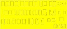H8K2 Emily фюзеляжные окна 1/72