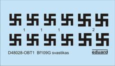 Bf 109G svastiky 1/48
