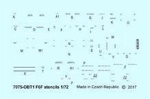 F6F stencils 1/72