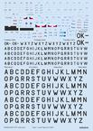 Z-37 stencils, code letters & labels 1/72