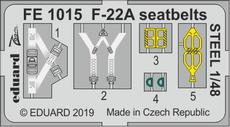 F-22A seatbelts STEEL 1/48