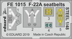 F-22A, стальные ремни 1/48