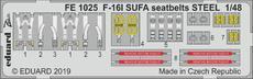 F-16I SUFA upínací pásy OCEL 1/48