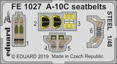 A-10C seatbelts STEEL 1/48