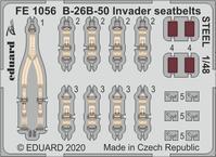 B-26B-50 インベーダー スチール製シートベルト 1/48