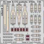B-17G seatbelts STEEL 1/48