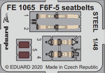F6F-5 seatbelts STEEL 1/48