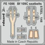 Bf 109C seatbelts STEEL 1/48