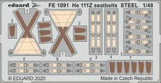 He 111Z seatbelts STEEL 1/48