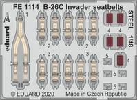 B-26C Invader seatbelts STEEL 1/48