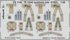 TF-104G seatbelts late STEEL 1/48