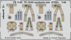 TF-104G upínací pásy pozdní verze OCEL 1/48