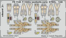F-104DJ seatbelts early STEEL 1/48