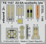 AV-8A seatbelts late STEEL 1/48