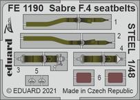 Sabre F.4 seatbelts STEEL 1/48